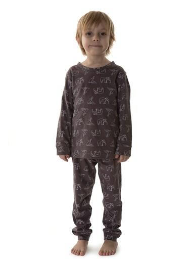 Hays Kids Erkek Çocuk Penye 2Li Pijama Takımı Mor